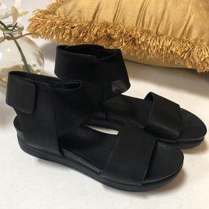 Eileen Fisher Black Spree Sport Leather Sandals